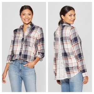 NWOT Knox Rose Plaid Button Up Flannel